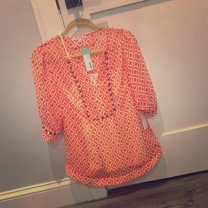 Mini Geo Print & Camisole blouse 41 Hawthorn